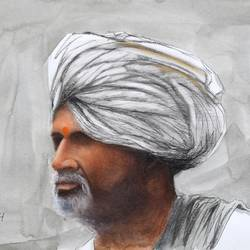 portrait 1, 16 x 12 inch, saurabh jathar,paintings,figurative paintings,portrait paintings,portraiture,realism paintings,realistic paintings,paintings for living room,paintings for office,paintings for hotel,brustro watercolor paper,charcoal,mixed media,pastel color,watercolor,16x12inch,GAL0396421350