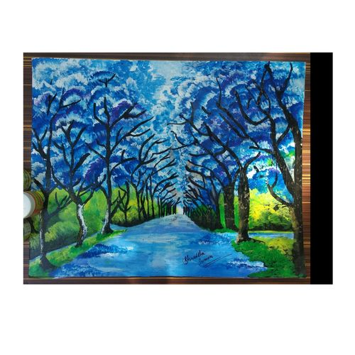 forest scenario, 14 x 11 inch, shraddha suman pati,paintings,nature paintings,paintings for bedroom,drawing paper,acrylic color,14x11inch,GAL01100821366Nature,environment,Beauty,scenery,greenery
