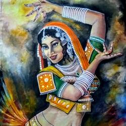 the beauty of the rajasthani dancer, 28 x 37 inch, kyameliya mandal,paintings,figurative paintings,portrait paintings,contemporary paintings,paintings for dining room,paintings for living room,paintings for bedroom,paintings for office,paintings for hotel,paintings for dining room,paintings for living room,paintings for bedroom,paintings for office,paintings for hotel,canvas,acrylic color,28x37inch,GAL0835321371
