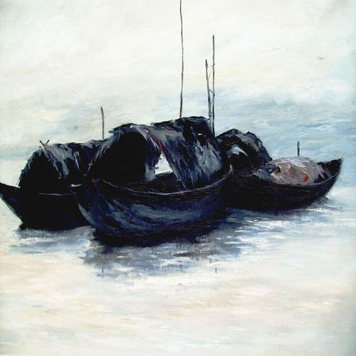 boats, 36 x 24 inch, bidyut kanti majumdar,paintings,landscape paintings,nature paintings,impressionist paintings,realism paintings,realistic paintings,paintings for dining room,paintings for living room,paintings for bedroom,paintings for office,paintings for kids room,paintings for hotel,paintings for kitchen,paintings for school,paintings for hospital,canvas,oil,36x24inch,GAL0111021390Nature,environment,Beauty,scenery,greenery