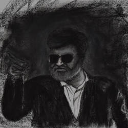 kabali, 16 x 12 inch, saurabh jathar,drawings,figurative drawings,photorealism drawings,portrait drawings,realism drawings,paintings for dining room,paintings for living room,paintings for office,paintings for kids room,paintings for hotel,thick paper,charcoal,pastel color,16x12inch,GAL0396421395