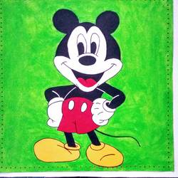 mickey mouse, 15 x 15 inch, geeta kwatra,paintings,abstract paintings,paintings for kids room,canvas,acrylic color,15x15inch,GAL0899121399