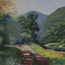green valley , 24 x 16 inch, md moin ,paintings,landscape paintings,canvas,acrylic color,24x16inch,GAL01096021417