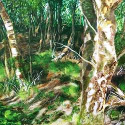 woods, 24 x 18 inch, rakesh dogra,paintings,landscape paintings,nature paintings,paintings for living room,paintings for bedroom,paintings for office,paintings for hotel,paintings for hospital,canvas,acrylic color,24x18inch,GAL0896821437Nature,environment,Beauty,scenery,greenery
