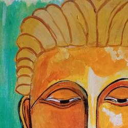 buddhadev , 12 x 16 inch, abhik mahanti,paintings,figurative paintings,canvas,acrylic color,12x16inch,GAL0404421441