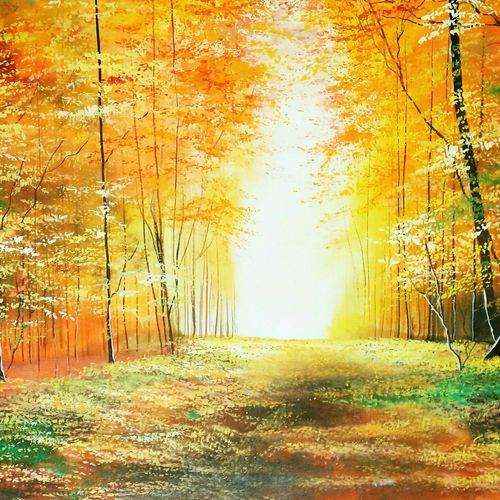 golden light jungle walks , 30 x 23 inch, md moin ,paintings,landscape paintings,paintings for living room,paintings for office,canvas,acrylic color,30x23inch,GAL01096021445