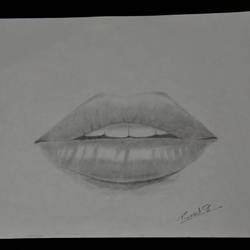 realistic lips, 8 x 12 inch, puneet bangera,drawings,realism drawings,paper,graphite pencil,8x12inch,GAL01087721447
