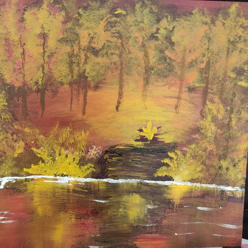 forest glow, 20 x 16 inch, josy joseph,paintings,landscape paintings,nature paintings,paintings for dining room,paintings for living room,paintings for bedroom,paintings for office,paintings for bathroom,paintings for kids room,paintings for hotel,paintings for kitchen,paintings for school,paintings for hospital,canvas board,acrylic color,20x16inch,GAL01132821473Nature,environment,Beauty,scenery,greenery