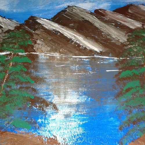 mountain reflections, 20 x 16 inch, josy joseph,paintings,landscape paintings,nature paintings,paintings for dining room,paintings for living room,paintings for bedroom,paintings for office,paintings for bathroom,paintings for kids room,paintings for hotel,paintings for kitchen,paintings for school,paintings for hospital,paintings for dining room,paintings for living room,paintings for bedroom,paintings for office,paintings for bathroom,paintings for kids room,paintings for hotel,paintings for kitchen,paintings for school,paintings for hospital,canvas board,acrylic color,20x16inch,GAL01132821477Nature,environment,Beauty,scenery,greenery