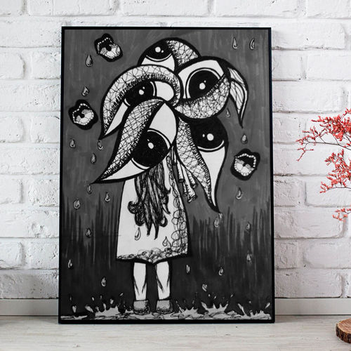 painting, 18 x 24 inch, shruti sinha,drawings,abstract drawings,abstract expressionist drawings,illustration drawings,modern drawings,paintings for dining room,paintings for living room,paintings for hotel,thick paper,ink color,photo ink,18x24inch,GAL01134221486