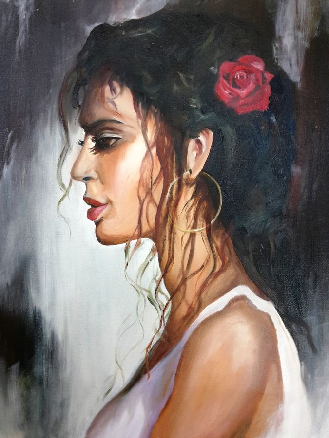 spanish woman, 16 x 20 inch, amaey parekh,paintings,figurative paintings,portrait paintings,illustration paintings,paintings for dining room,paintings for living room,paintings for bedroom,paintings for office,paintings for bathroom,paintings for kids room,paintings for dining room,paintings for living room,paintings for bedroom,paintings for office,paintings for bathroom,paintings for kids room,canvas,oil,16x20inch,GAL07521495