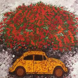 love bug, 30 x 30 inch, shilpi singh patel,paintings,flower paintings,landscape paintings,nature paintings,impressionist paintings,contemporary paintings,love paintings,paintings for dining room,paintings for living room,paintings for bedroom,paintings for hotel,paintings for hospital,canvas,oil,30x30inch,GAL045521498heart,family,caring,happiness,forever,happy,trust,passion,romance,sweet,kiss,love,hugs,warm,fun,kisses,joy,friendship,marriage,chocolate,husband,wife,forever,caring,couple,sweetheartNature,environment,Beauty,scenery,greenery
