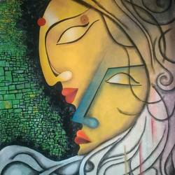 divine love, 21 x 22 inch, ramya arumugam,paintings,abstract paintings,figurative paintings,paintings for dining room,paintings for living room,paintings for bedroom,paintings for office,paintings for bathroom,paintings for kids room,paintings for hotel,paintings for kitchen,paintings for school,paintings for hospital,thick paper,acrylic color,pastel color,pen color,pencil color,poster color,watercolor,ball point pen,21x22inch,GAL01066121499