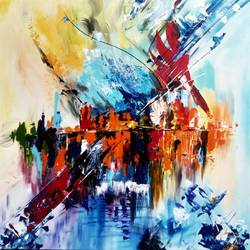 abstract 009, 30 x 30 inch, aly finearts,paintings,abstract paintings,canvas,acrylic color,30x30inch,GAL0713921500