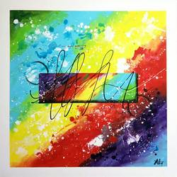 abstract0015, 30 x 30 inch, aly finearts,paintings,abstract paintings,canvas,acrylic color,30x30inch,GAL0713921513