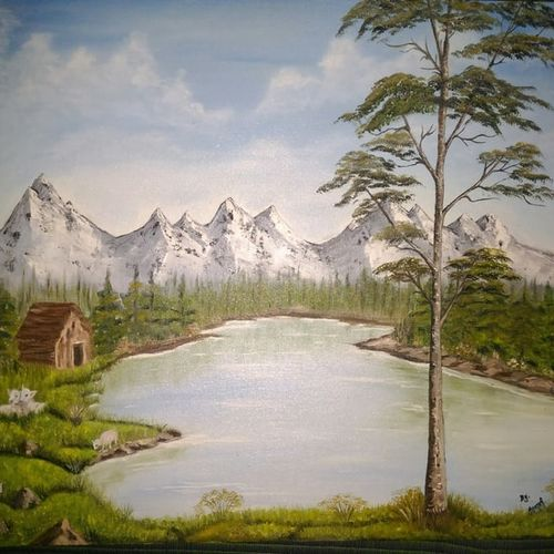 nature, 24 x 18 inch, anandi m,paintings,landscape paintings,paintings for dining room,paintings for living room,paintings for bedroom,paintings for office,paintings for hotel,paintings for school,paintings for hospital,canvas,oil,24x18inch,GAL0307721516