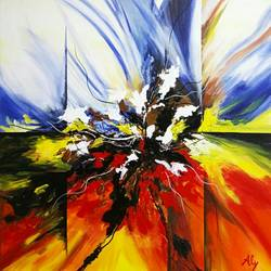 abstract0017, 30 x 30 inch, aly finearts,paintings,abstract paintings,canvas,acrylic color,30x30inch,GAL0713921518