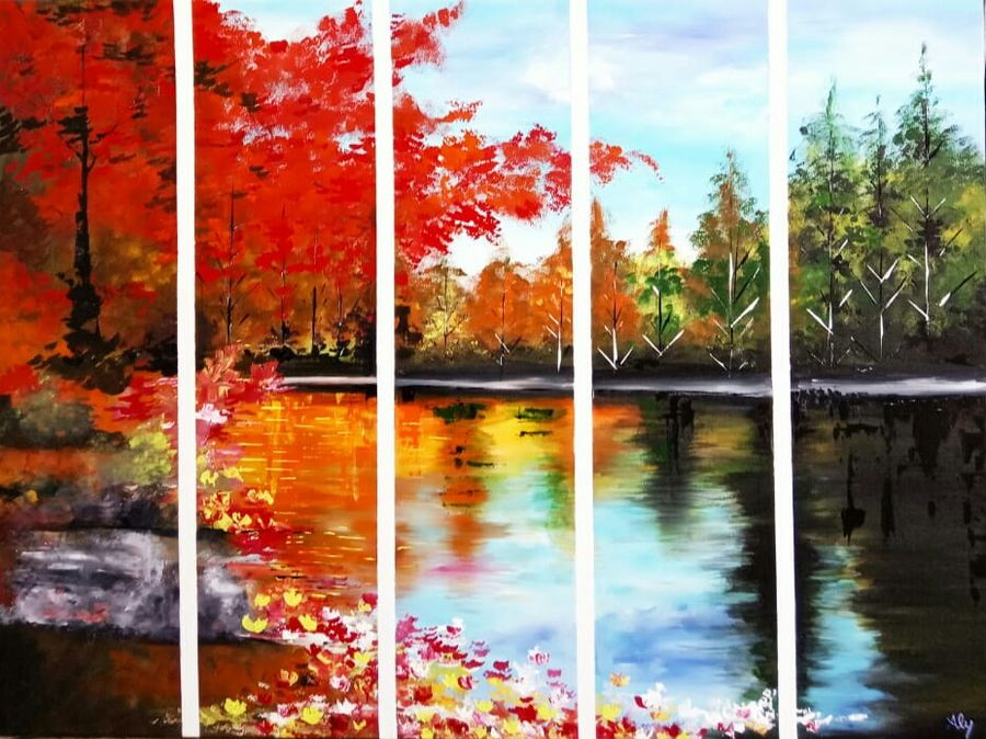 landscape0018, 40 x 30 inch, aly finearts,paintings,landscape paintings,canvas,acrylic color,40x30inch,GAL0713921524