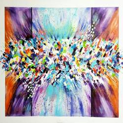 abstract0019, 40 x 30 inch, aly finearts,paintings,abstract paintings,canvas,acrylic color,40x30inch,GAL0713921525