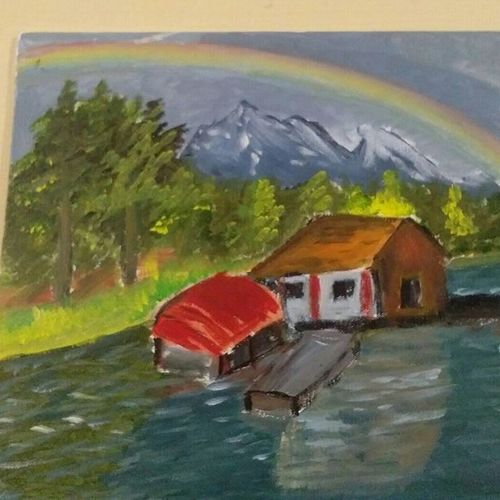 rainbow scenery monsoon beauty, 12 x 12 inch, nandhini rt,paintings,nature paintings,paintings for bedroom,paintings for office,paintings for kids room,paintings for hotel,paintings for school,paintings for bedroom,paintings for office,paintings for kids room,paintings for hotel,paintings for school,landscape paintings,canvas board,acrylic color,12x12inch,GAL0887921532Nature,environment,Beauty,scenery,greenery