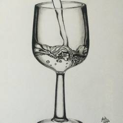 glass, 8 x 12 inch, ashwani singh,drawings,realism drawings,paintings for dining room,paintings for living room,paintings for bedroom,paintings for kids room,paintings for hotel,paintings for kitchen,paintings for school,paper,charcoal,8x12inch,GAL0898521546