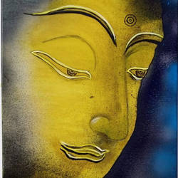 the buddha, 16 x 20 inch, shailesh kumar,paintings,religious paintings,portrait paintings,paintings for living room,paintings for bedroom,paintings for office,paintings for hotel,paintings for school,paintings for hospital,canvas,acrylic color,mixed media,16x20inch,GAL0136121549