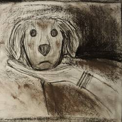 mother, 12 x 8 inch, zoya deb,drawings,abstract drawings,abstract expressionist drawings,expressionist drawings,figurative drawings,thick paper,charcoal,pastel color,12x8inch,GAL01141021571