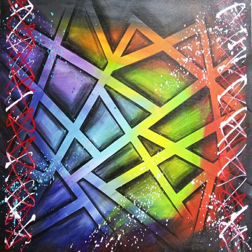 abstract0025, 36 x 24 inch, aly finearts,paintings,abstract paintings,canvas,acrylic color,36x24inch,GAL0713921576