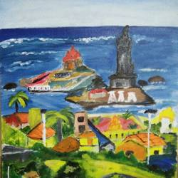 kanyakumari beauty view, 14 x 15 inch, nandhini rt,paintings,landscape paintings,photorealism paintings,street art,realistic paintings,paintings for dining room,paintings for living room,paintings for bedroom,paintings for office,paintings for bathroom,paintings for school,paintings for hospital,paintings for dining room,paintings for living room,paintings for bedroom,paintings for office,paintings for bathroom,paintings for school,paintings for hospital,canvas,acrylic color,14x15inch,GAL0887921581