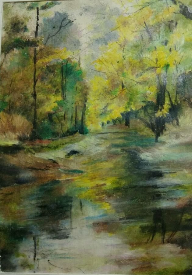 landscape, 20 x 18 inch, arpita biswas dasgupta,paintings,landscape paintings,nature paintings,paintings for dining room,paintings for living room,paintings for bedroom,paintings for office,paintings for kids room,paintings for hotel,paintings for school,paintings for hospital,fabriano sheet,pastel color,20x18inch,GAL01013621599Nature,environment,Beauty,scenery,greenery