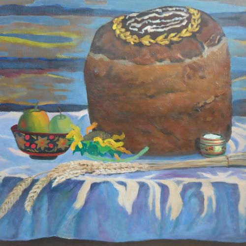 loaf, 25 x 32 inch, moesey li,still life paintings,paintings for dining room,paintings,canvas,oil paint,25x32inch,GAL07182160