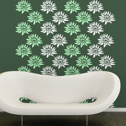 wall stencil: traditional flower wall design stencil, 1 stencil (size 12x12 inches) | reusable | diy, 12 x 12 inch, wall stencil designs,12x12inch,ohp plastic sheets,flower designs,plastic,GAL0121623,GAL0121623