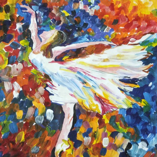 ballet with magic, 12 x 14 inch, diyasha sarkar,abstract paintings,figurative paintings,modern art paintings,conceptual paintings,portrait paintings,paintings for dining room,paintings for living room,paintings for bedroom,drawing paper,acrylic color,12x14inch,GAL01092621645