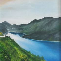 the flowing river, 16 x 23 inch, idris khaleel,paintings,landscape paintings,nature paintings,paintings for dining room,paintings for living room,paintings for bedroom,paintings for office,paintings for kids room,paintings for hotel,canvas,oil,16x23inch,GAL01131721657Nature,environment,Beauty,scenery,greenery