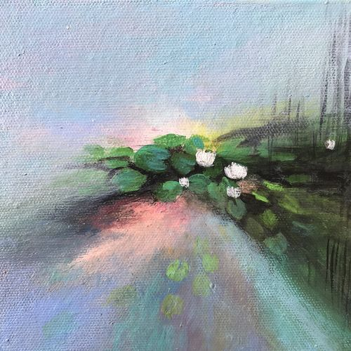 light play, 6 x 6 inch, amita dand,paintings,abstract paintings,flower paintings,paintings for living room,paintings for bedroom,paintings for office,paintings for hotel,canvas board,acrylic color,6x6inch,GAL0146721676