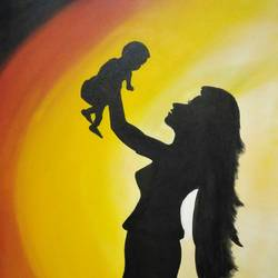 mother, 24 x 30 inch, devendra  gupta,paintings,modern art paintings,canvas board,acrylic color,24x30inch,GAL01154221700