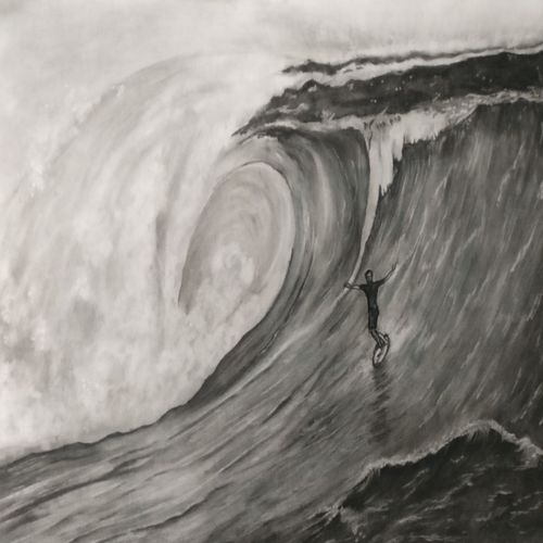 riding the wave, 23 x 16 inch, hemangini kappla,paintings,landscape paintings,nature paintings,paintings for dining room,paintings for living room,paintings for bedroom,paintings for office,paintings for kids room,paintings for hotel,paintings for school,thick paper,charcoal,23x16inch,GAL0803721705Nature,environment,Beauty,scenery,greenery