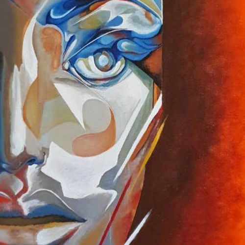 a graphic man, 14 x 18 inch, vikrant  kapil,paintings,canvas,acrylic color,14x18inch,GAL01155121713