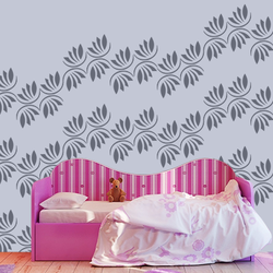 wall stencil: glossy trendy design wall stencil  , 1 stencil (size 12x12 inches) | reusable | diy, 12 x 12 inch, wall stencil designs,12x12inch,ohp plastic sheets,flower designs,plastic,GAL0121738,GAL0121738