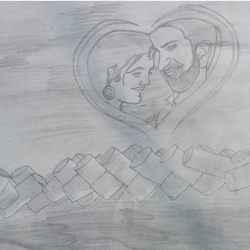 love, 17 x 12 inch, himanshu singh,drawings,fine art drawings,paintings for bedroom,thick paper,graphite pencil,17x12inch,GAL01153121750