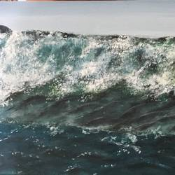 ocean waves, 18 x 12 inch, anitta paul,paintings,nature paintings,realism paintings,contemporary paintings,paintings for dining room,paintings for living room,paintings for bedroom,paintings for office,paintings for bathroom,paintings for dining room,paintings for living room,paintings for bedroom,paintings for office,paintings for bathroom,canvas,acrylic color,18x12inch,GAL01159021778Nature,environment,Beauty,scenery,greenery
