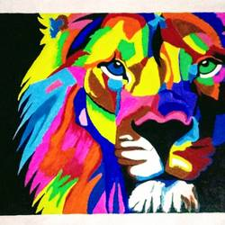 lion modern art, 22 x 16 inch, geeta kwatra,paintings,modern art paintings,animal paintings,paintings for living room,canvas,acrylic color,22x16inch,GAL0899121791