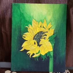 sunflower, 8 x 10 inch, disha patel,paintings,flower paintings,paintings for dining room,paintings for living room,paintings for bedroom,paintings for office,paintings for bathroom,paintings for kids room,paintings for hotel,paintings for kitchen,paintings for school,paintings for hospital,canvas,acrylic color,pen color,poster color,watercolor,8x10inch,GAL01167321840