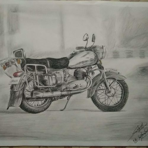 cruiser motorcycle, 14 x 10 inch, ritesh chavan,drawings,conceptual drawings,fine art drawings,photorealism drawings,realism drawings,surrealist drawings,paintings for dining room,paintings for living room,paintings for bedroom,paintings for office,paintings for bathroom,paintings for kids room,paintings for hotel,paintings for kitchen,paintings for school,paintings for hospital,drawing paper,pencil color,ball point pen,14x10inch,GAL01139221846