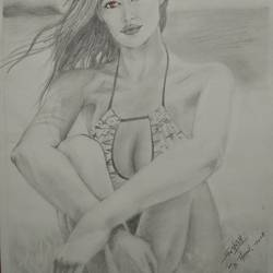 beach girl, 10 x 14 inch, ritesh chavan,drawings,fine art drawings,modern drawings,photorealism drawings,portrait drawings,realism drawings,surrealist drawings,paintings for dining room,paintings for living room,paintings for bedroom,paintings for office,paintings for bathroom,paintings for kids room,paintings for hotel,paintings for kitchen,paintings for school,paintings for hospital,drawing paper,pencil color,ball point pen,10x14inch,GAL01139221848