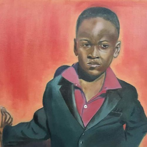 african boy, 24 x 18 inch, rakesh dogra,paintings,portrait paintings,portraiture,paintings for dining room,paintings for living room,paintings for bedroom,paintings for office,paintings for kids room,paintings for hotel,paintings for school,paintings for hospital,canvas,oil,24x18inch,GAL0896821872