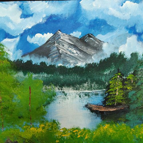 snow mountain, 20 x 16 inch, josy joseph,paintings,landscape paintings,nature paintings,paintings for dining room,paintings for living room,paintings for bedroom,paintings for office,paintings for bathroom,paintings for kids room,paintings for hotel,paintings for kitchen,paintings for school,paintings for hospital,canvas,acrylic color,20x16inch,GAL01132821895Nature,environment,Beauty,scenery,greenery