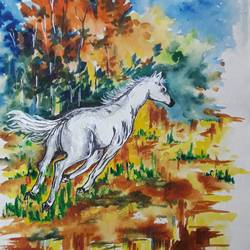 thrilling beauty, 11 x 15 inch, subrata chakraborty,paintings,animal paintings,paintings for dining room,paintings for living room,paintings for bedroom,paintings for kids room,paintings for hotel,paintings for school,paintings for hospital,paintings for dining room,paintings for living room,paintings for bedroom,paintings for kids room,paintings for hotel,paintings for school,paintings for hospital,handmade paper,acrylic color,11x15inch,GAL01168521906