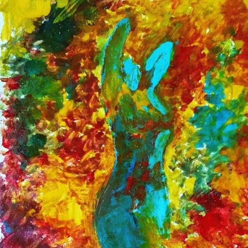 woman on fire , 23 x 42 inch, deepak  rathore ,paintings,abstract paintings,illustration paintings,love paintings,paintings for dining room,paintings for living room,paintings for bedroom,paintings for hotel,canvas,oil,23x42inch,GAL01111421917