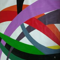 ribbons of fun, 24 x 28 inch, j.k  chhatwal,abstract paintings,paintings for dining room,paintings for living room,paintings for bedroom,paintings for office,paintings for bathroom,paintings for kids room,paintings for hotel,paintings for kitchen,canvas,acrylic color,24x28inch,GAL0537821925